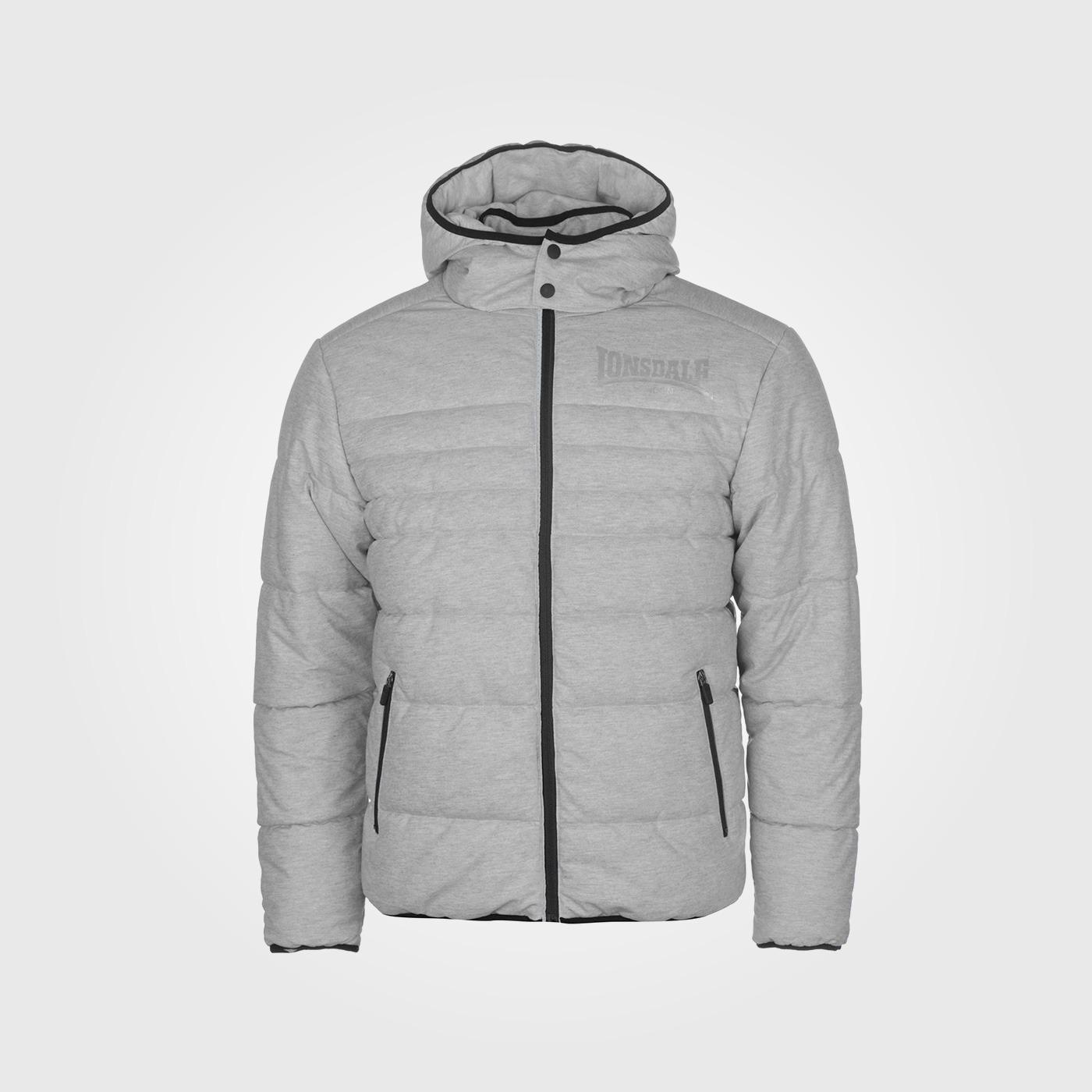 Куртка зимняя Lonsdale Baffle Mens Grey Marl
