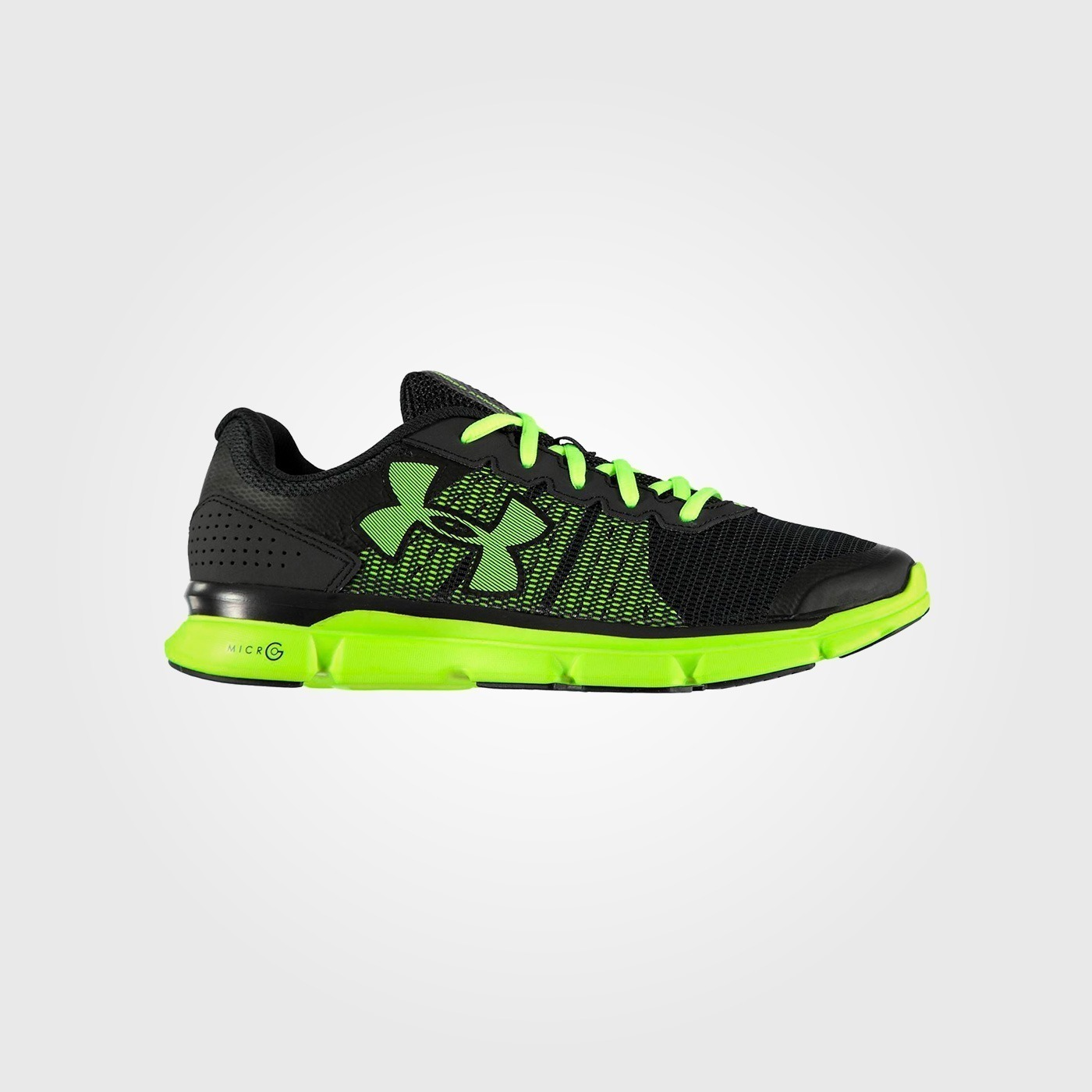 Кроссовки Under Armour Micro G Speed Swift Mens Trainers Gray Lime