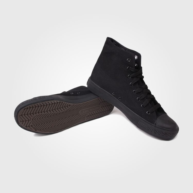 Кеды Dunlop Mens Canvas High Top Trainers Black