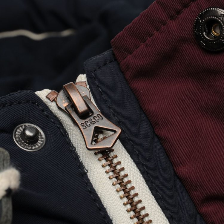 Куртка SoulCal Padded Mens Navy/Burgundy