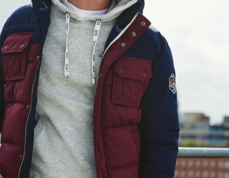 Куртка SoulCal Padded Mens Navy/Burgundy