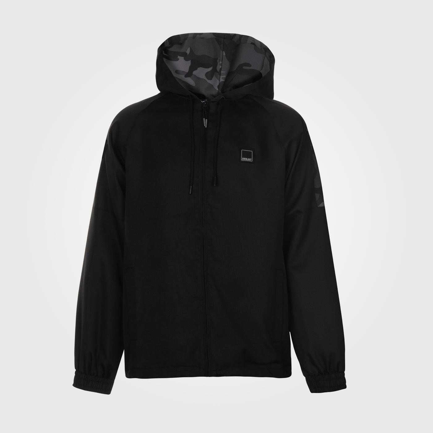 Куртка Everlast Camo Woven Mens Black осенняя