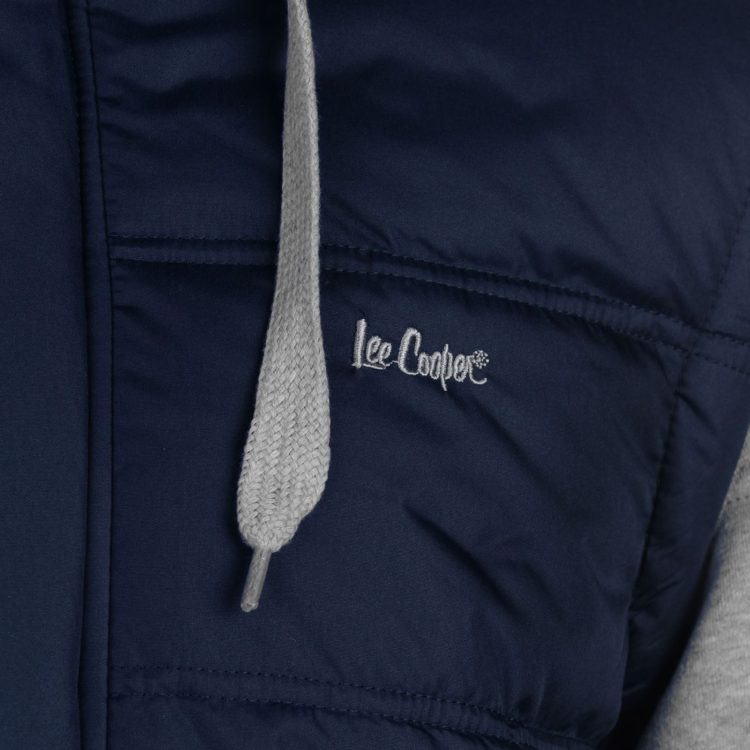 Куртка Lee Cooper Mixed Fabric Padded Navy/Grey утепленная