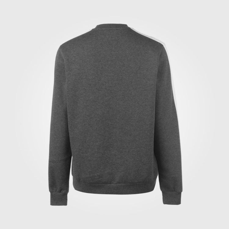 Олимпийка Lonsdale 2S Crew Neck Mens Charcoal/White