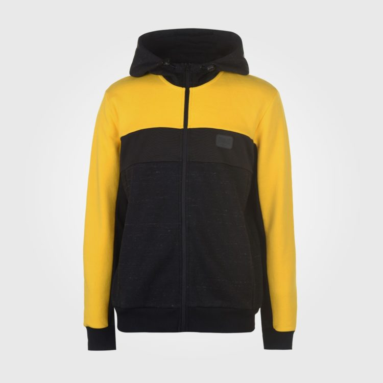 Толстовка Everlast Bronx Zip Hoody Mens Black/Yellow