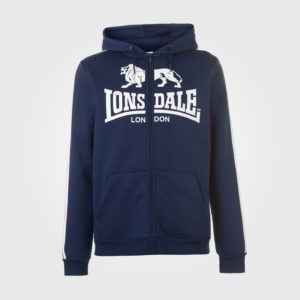 Толстовка Lonsdale 2S Zip Hoody Mens Navy/White