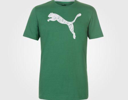 Футболка Puma Big Cat QT Mens Green
