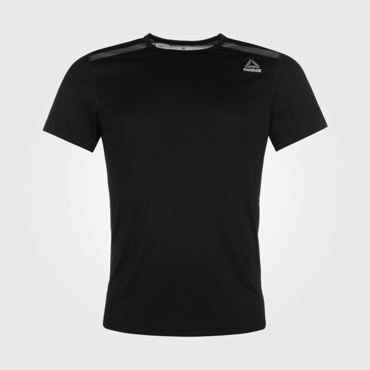 Футболка Reebok Workout Mens Black Grey