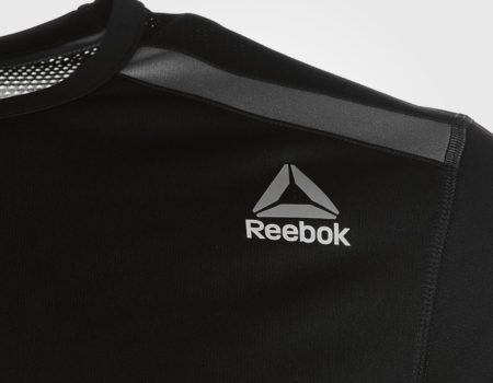Футболка Reebok Workout Mens Black/Grey
