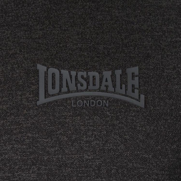 Толстовка Lonsdale Poly quarter Sn84 Black Marl