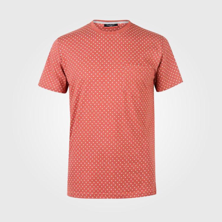 Футболка Cardin Mini Geometric Print Mens Red Marl