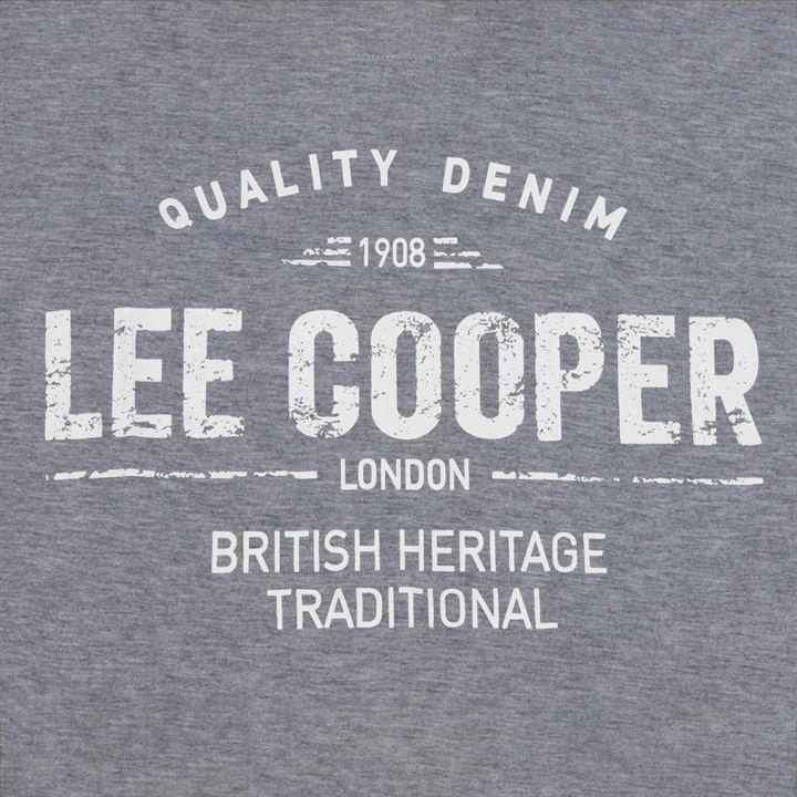 Футболка Lee Cooper Large Logo Print Mens Grey