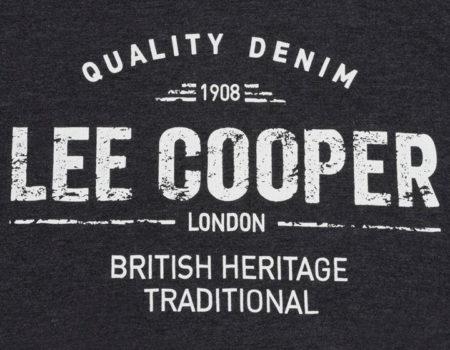 Футболка Lee Cooper Large Logo Print Mens Charcoal