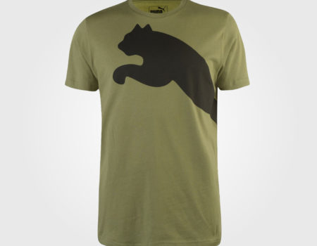 Футболка Puma Huge Cat QT Mens Olivine