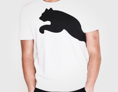 Футболка Puma Huge Cat QT Mens White/Black