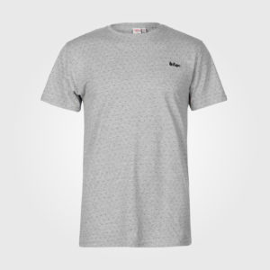 Футболка Lee Cooper Printed T Shirts Mens Grey Marl