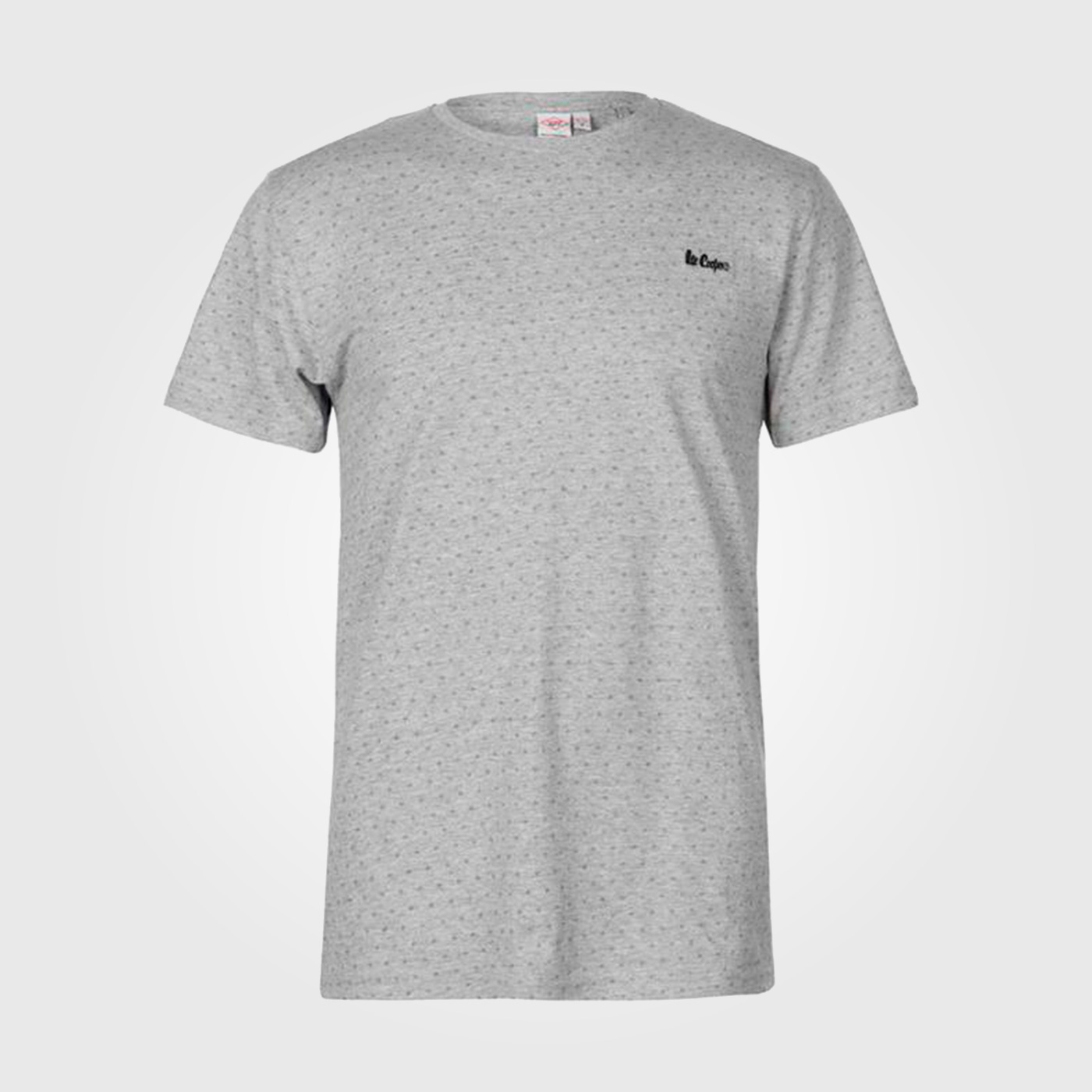 Футболка Lee Cooper Printed T Shirts Mens Grey Marl