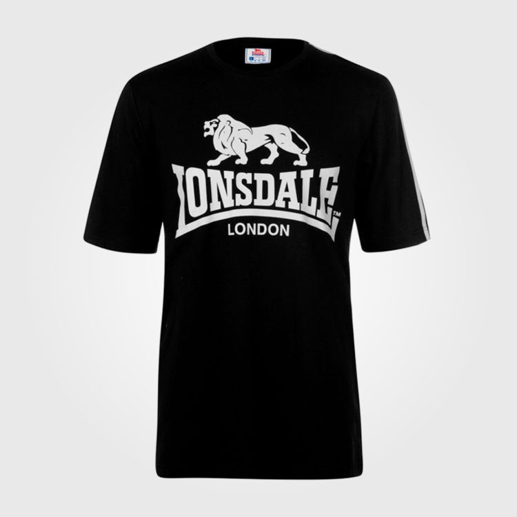 Футболка Lonsdale Large Logo T Shirt Mens Black