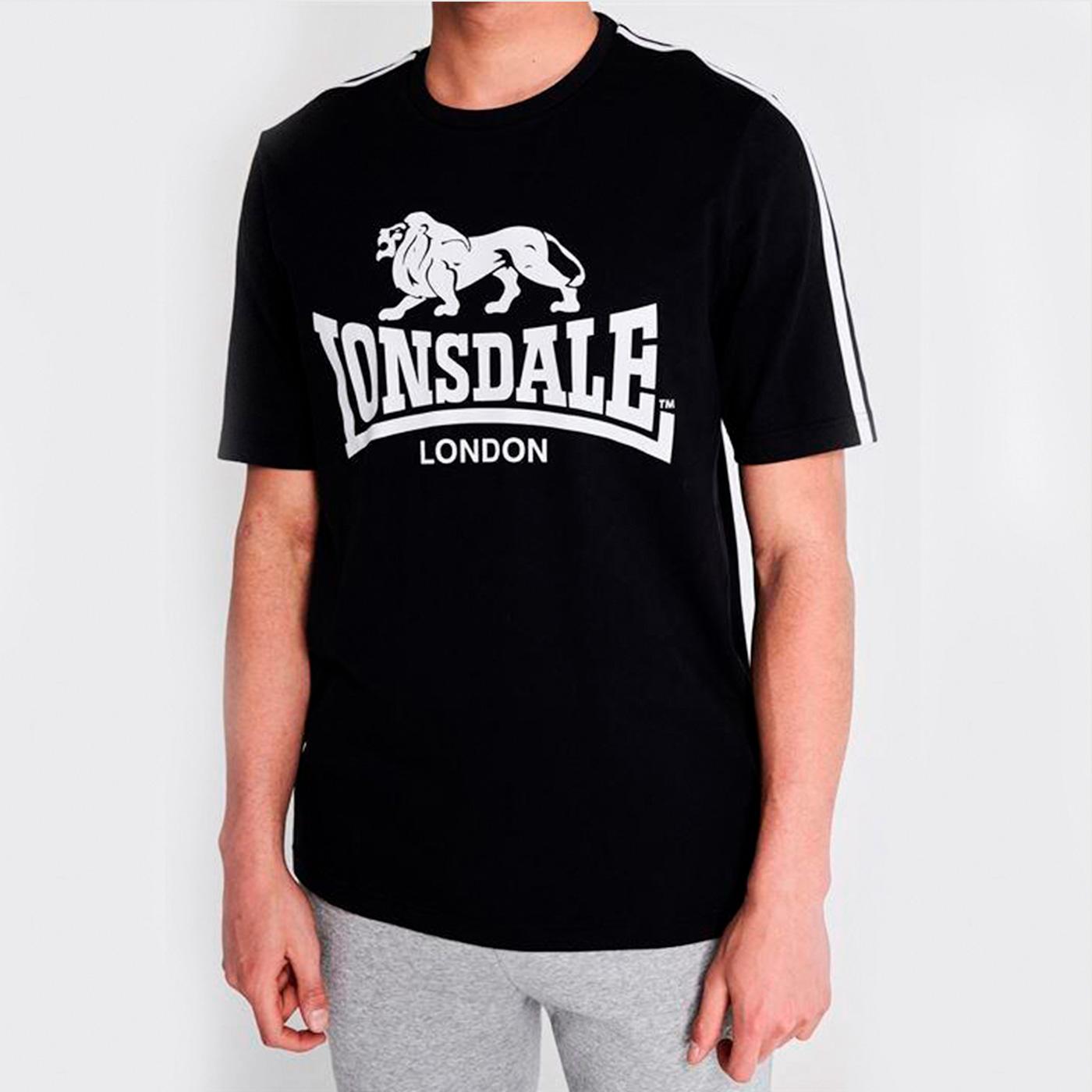 Футболка Lonsdale Large Logo T Shirt Mens Black