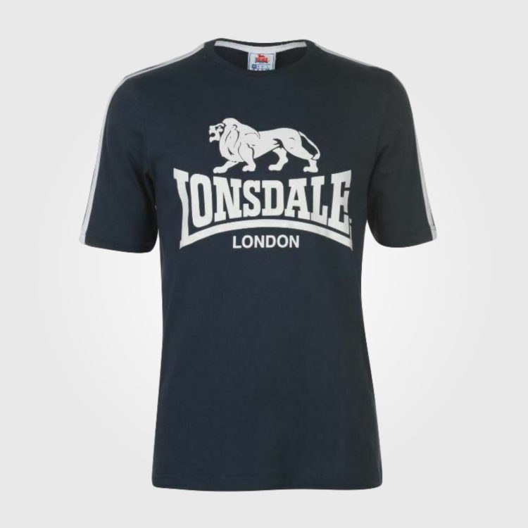 Футболка Lonsdale Large Logo T Shirt Mens Navy
