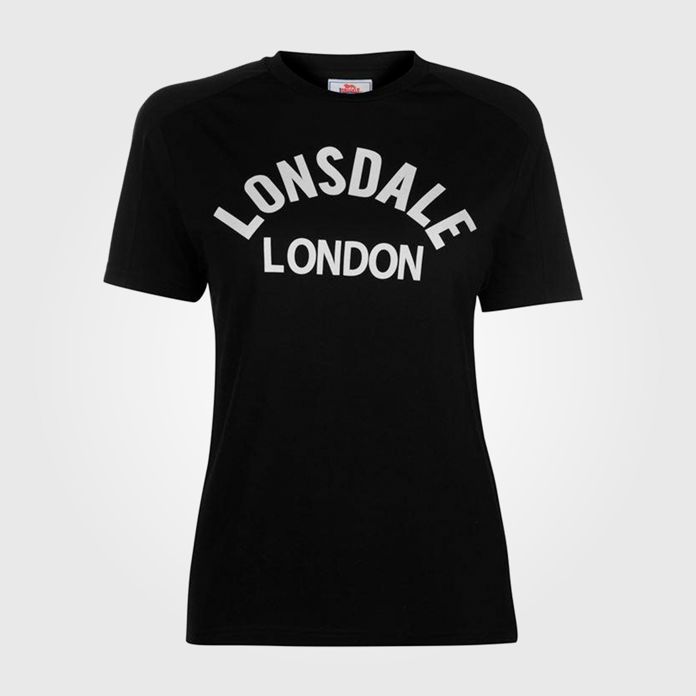 Футболка Lonsdale Long Line Crew T Shirt Ladies Black