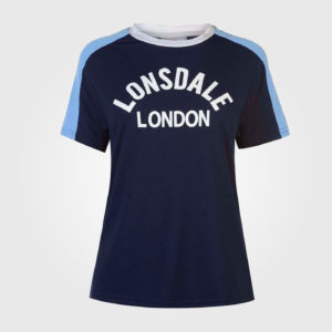Футболка Lonsdale Long Line Crew T Shirt Ladies Navy