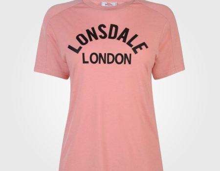 Футболка женская Lonsdale Long Line Shirt Pink