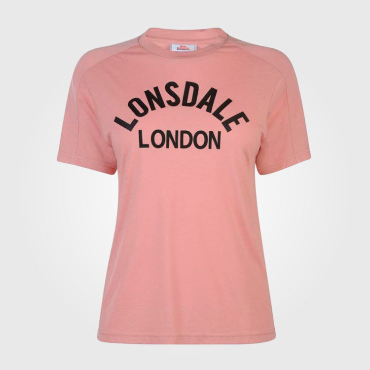 Футболка Lonsdale Long Line Crew T Shirt Ladies Pink