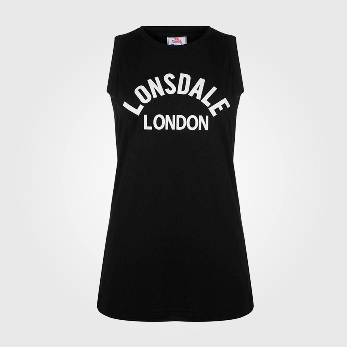Футболка Lonsdale Long Line Tank Top Ladies Black