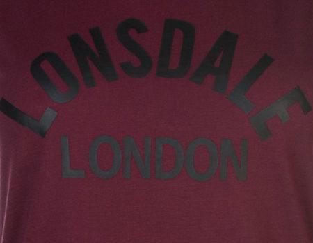 Футболка женская Lonsdale Long Line Tank Top Burgundy
