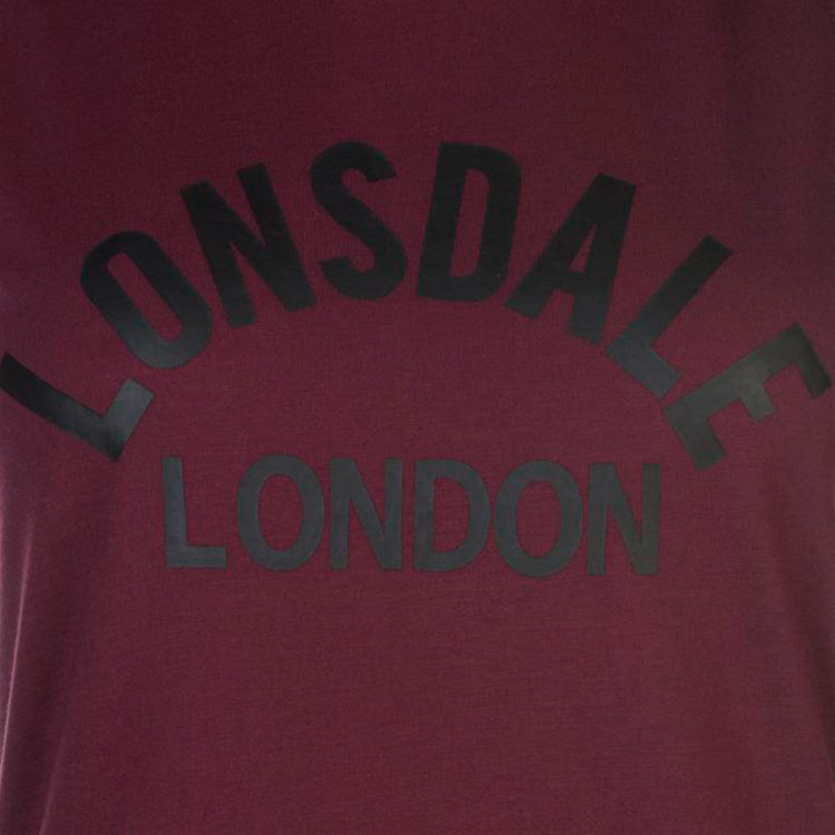 Футболка Lonsdale Long Line Tank Top Ladies Burgundy
