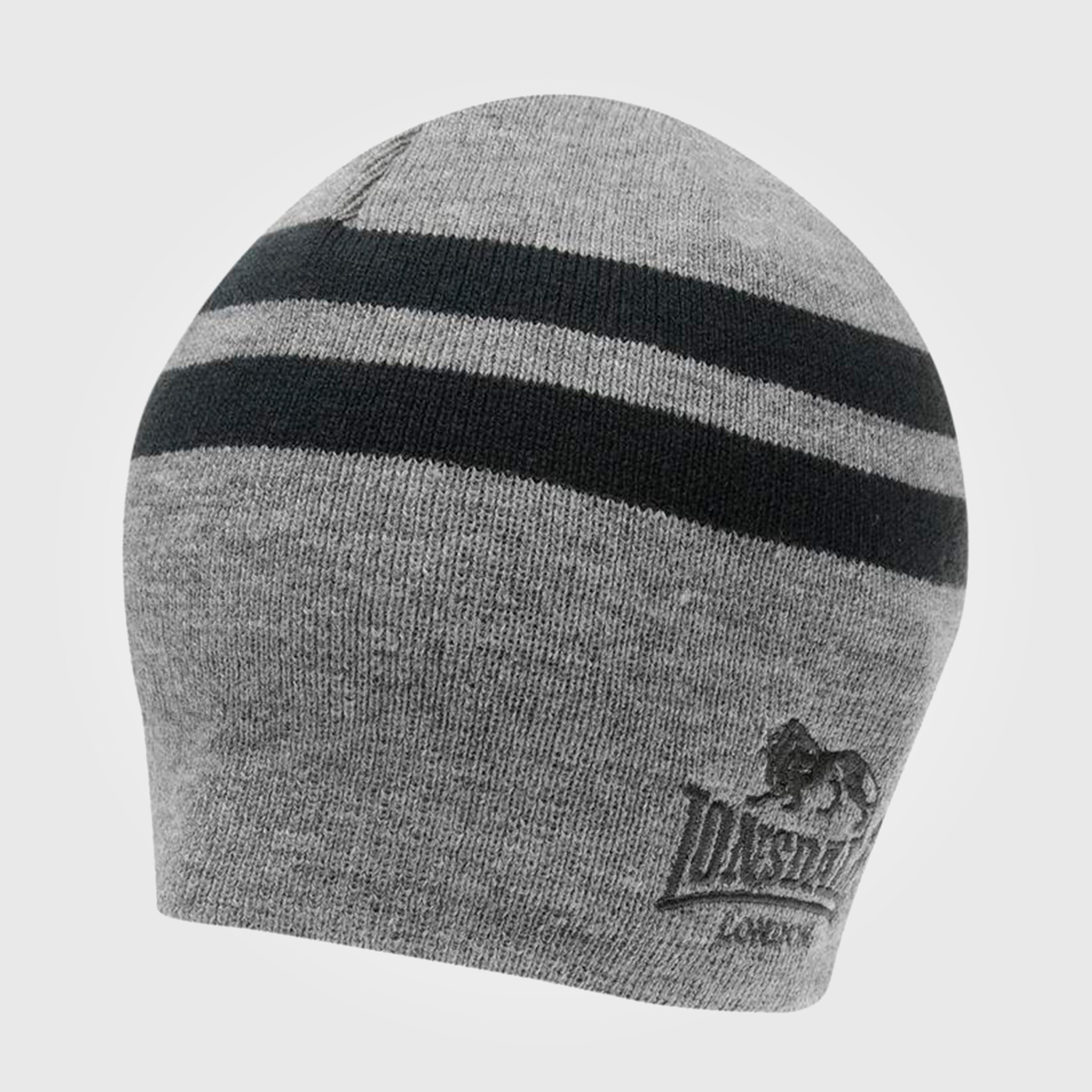 Шапка Lonsdale 2 Stripe Hat Mens Charcoal