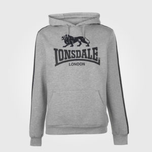 Толстовка Lonsdale 2S OTH Mens Grey Marl/Black
