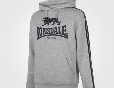 Толстовка Lonsdale 2S OTH Mens Grey Marl/Black
