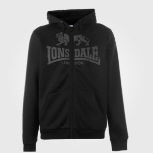 Толстовка Lonsdale 2S Zip Mens Black/Charcoal