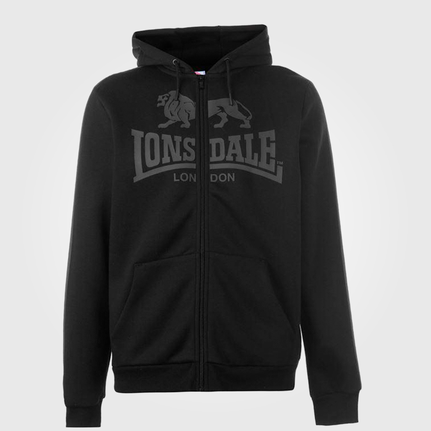 Толстовка Lonsdale 2S Zip Mens Black/Charcoal
