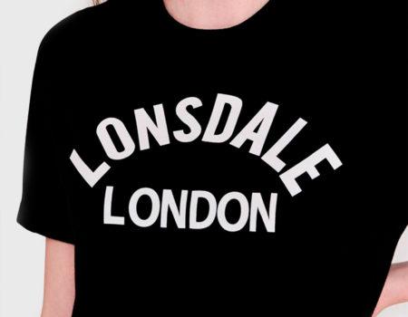 Футболка женская Lonsdale Long Line Crew Black