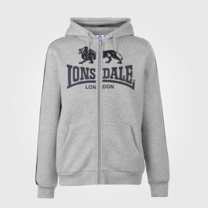 Толстовка Lonsdale 2S Zip Mens Grey Marl/Black