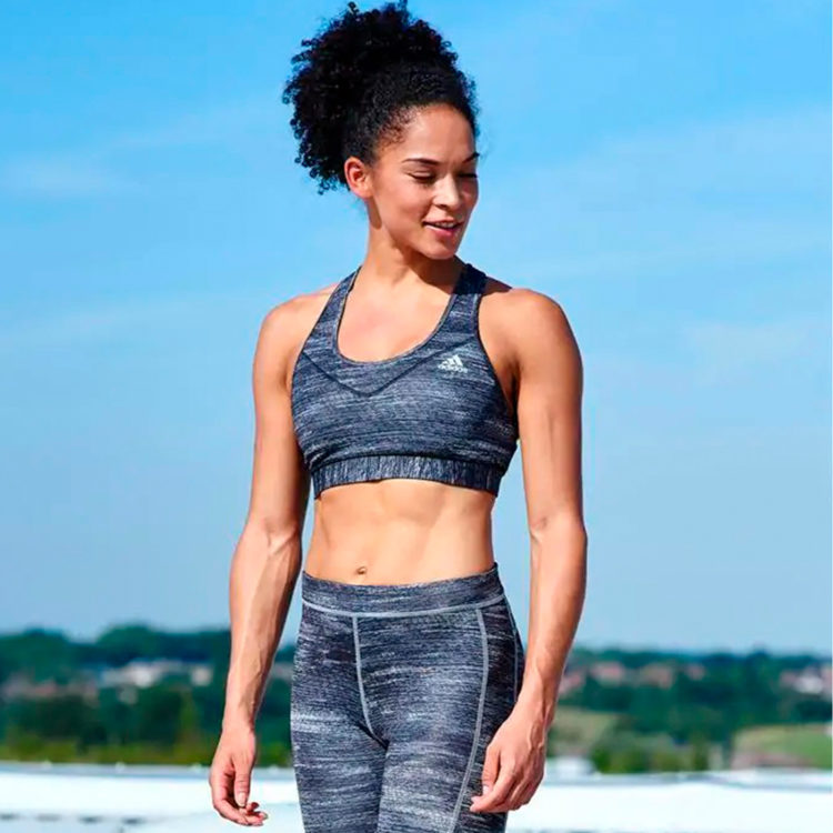 Бюстгальтер Adidas Tech Fit ladies Black Heather