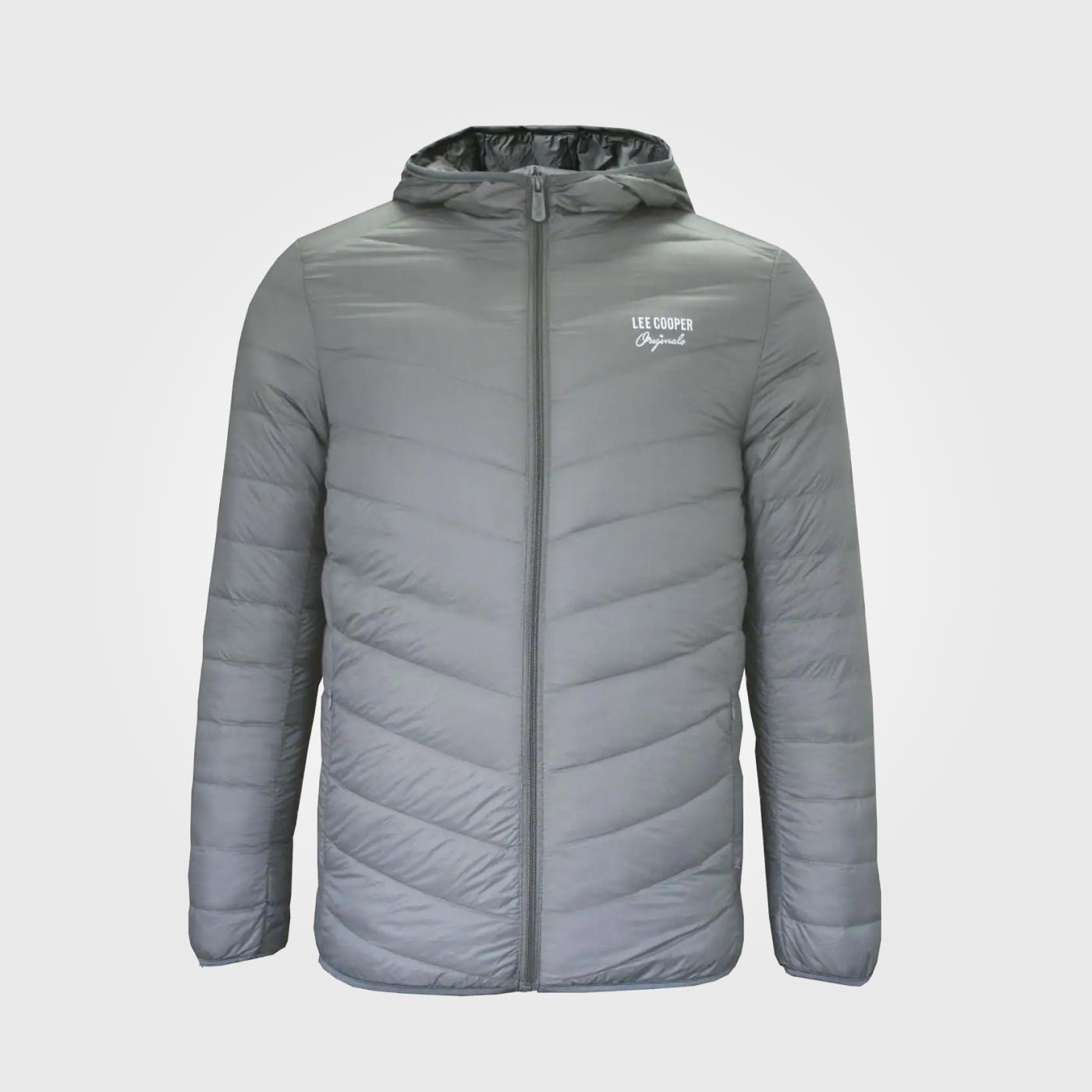 Куртка Lee Cooper Xlite Hooded Down Mens Charcoal