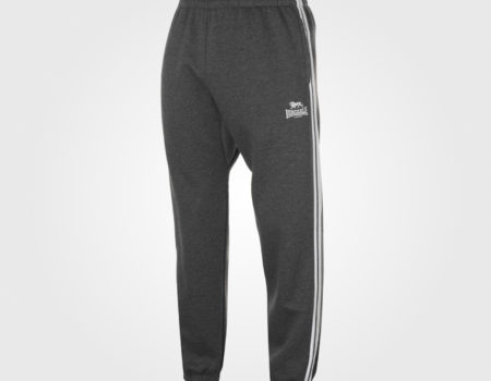 Спортивные штаны Lonsdale 2 Stripe Jogging Mens Charcoal/Whit