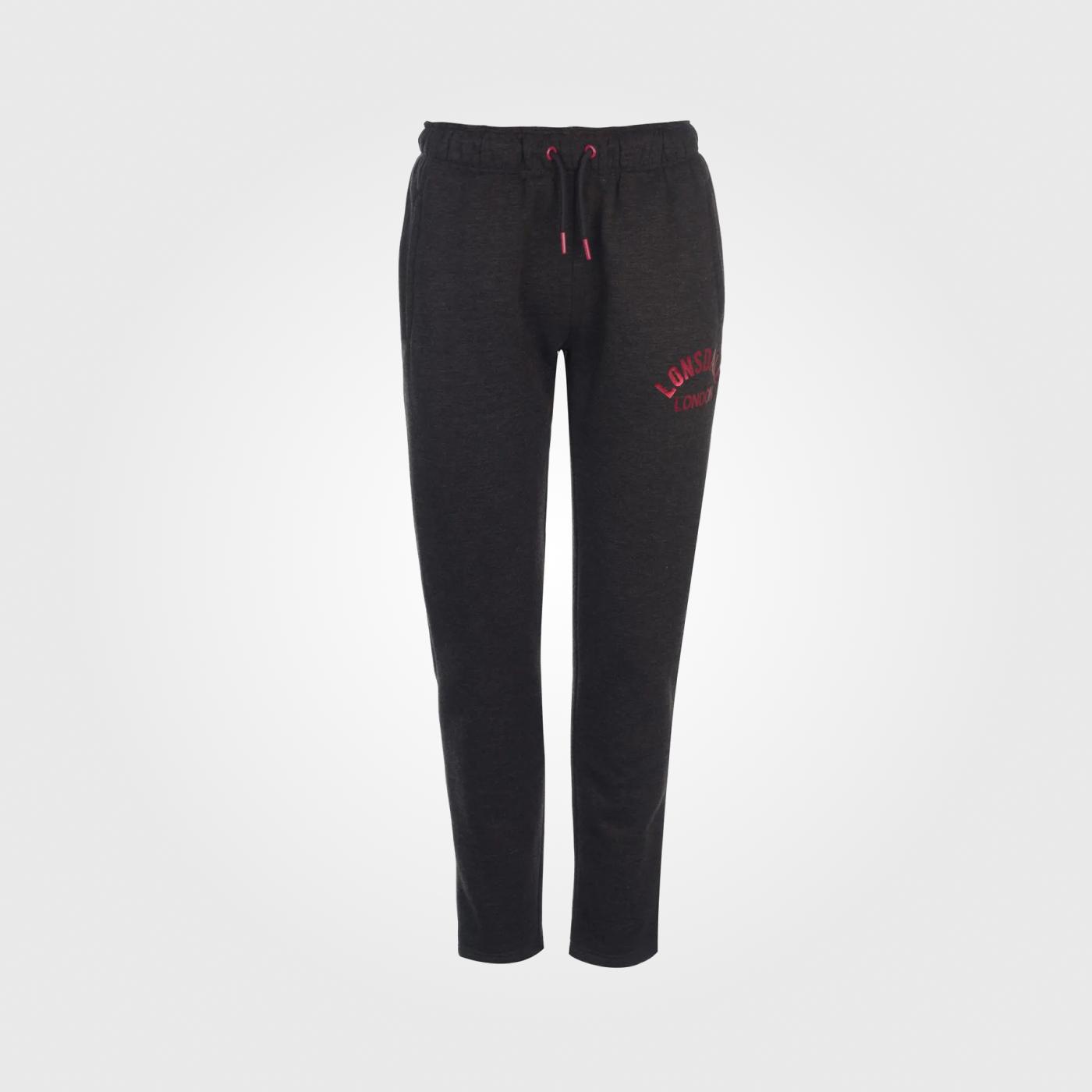 Спортивные штаны Lonsdale Slim Open Hem Ladies Charcoal