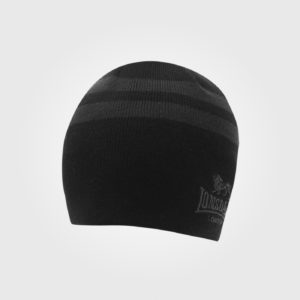 Шапка Lonsdale 2 Stripe Hat Mens Black