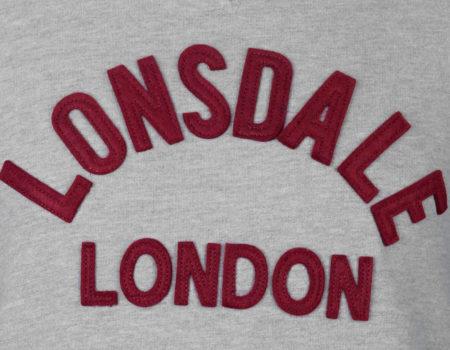 Свитер Lonsdale Heritage Crew Mens Grey Marl/Charc