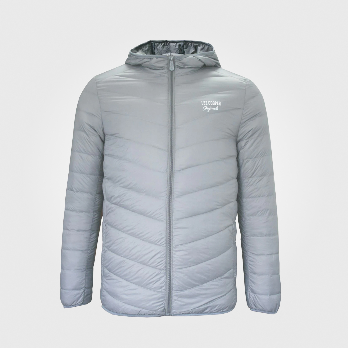 Куртка Lee Cooper Xlite Hooded Down Mens Grey