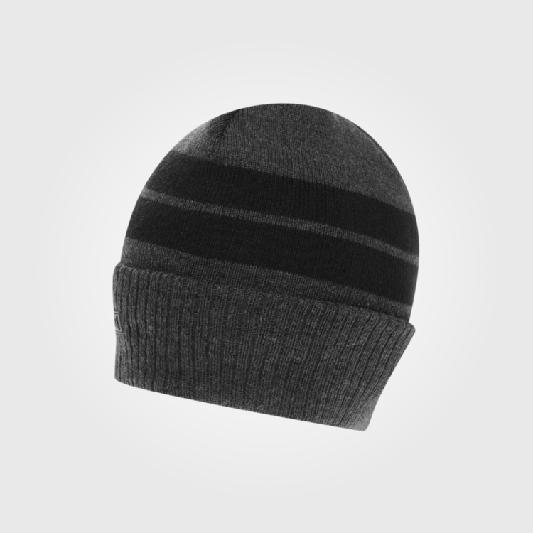 Шапка Lonsdale Turn Up Beanie Hat Mens Charcoal