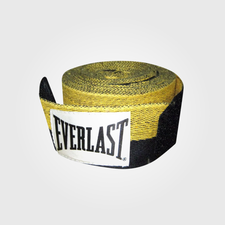 Бинты боксерские Everlast Herringbone Black/Yellow
