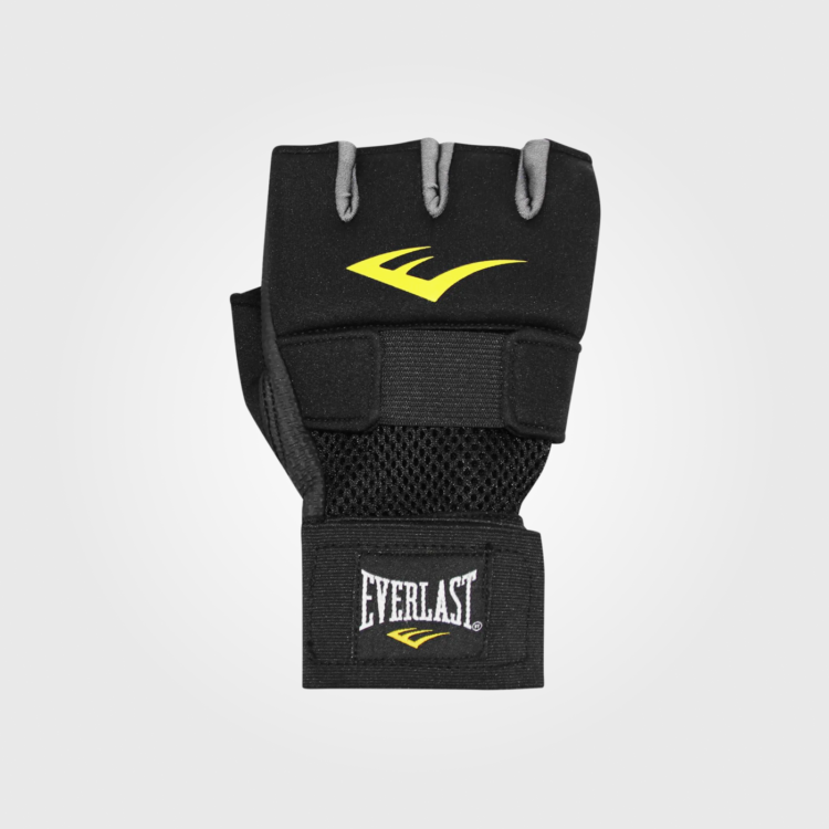 Гелевые боксерские перчатки-бинты Everlast Black/Charcoal