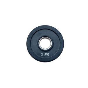 Диск обрезиненный, черный RN-Sport Alex 2,5 кг - 51 мм