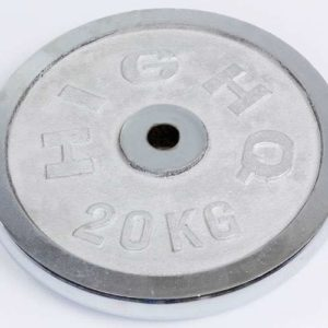 Блин (диск) хромированный d-30мм HIGHQ SPORT ТА-2189 20кг (металл хромированный)